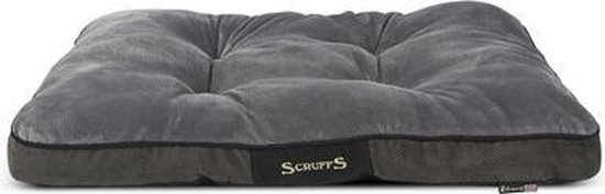 Scruffs Chester Mattress - Hondenkussen - Graphite - L - 100 x 70 x 8 cm