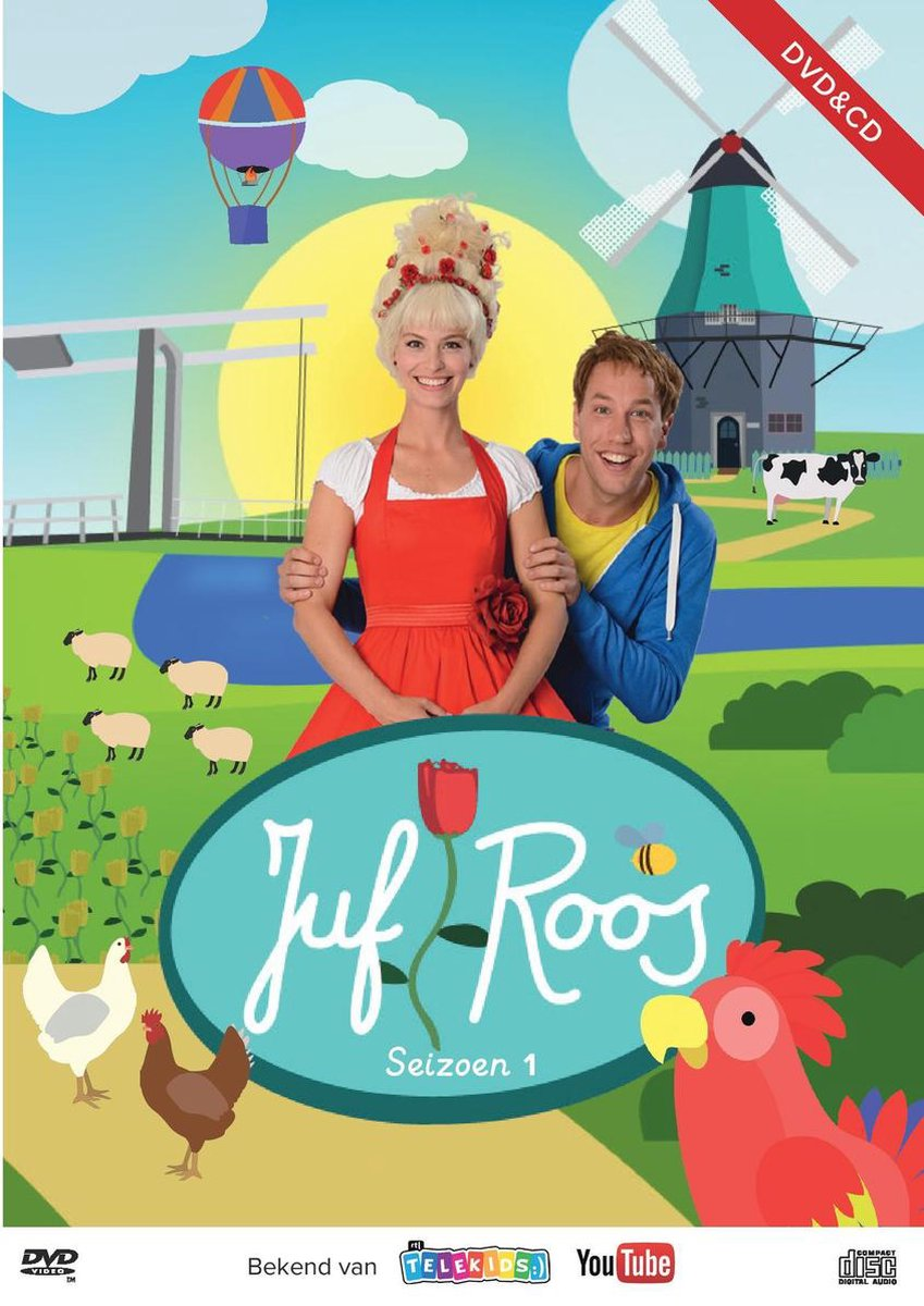 Juf Roos - Seizoen 1 (DVD+CD)  Deel 1 van de kinderliedjes van Juf Roos