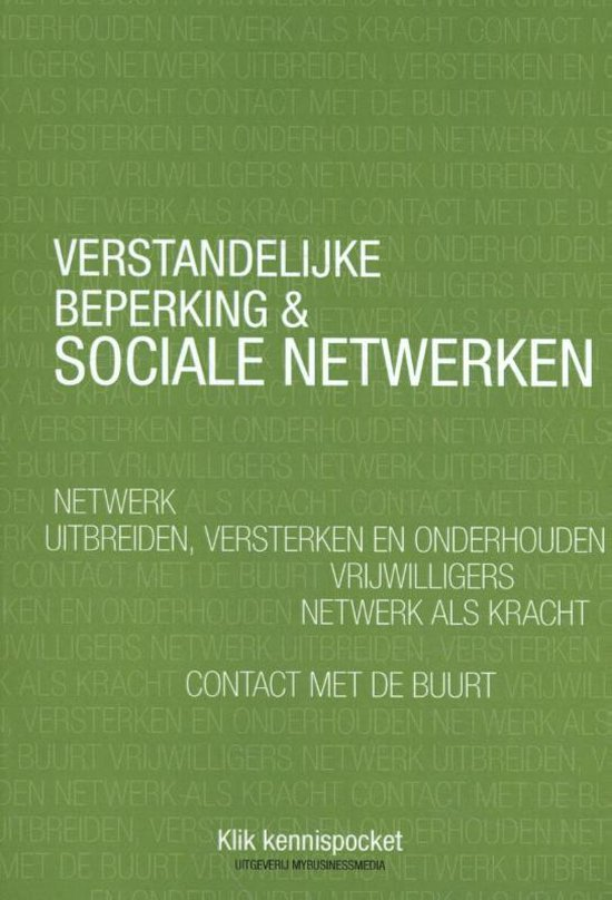 Verstandelijke beperking & Sociale netwerken - Tjitske Gijzen |