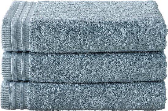 De Witte Lietaer  Imagine  Badhanddoeken - 50x100 cm -  Blauw/Grijs - Set van 3 - De Witte Lietaer