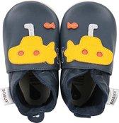 PROMO! - Bobux babyslofjes Duikboot blauw geel - maat 18