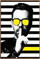 Beste bol.com | Canvas Schilderij * Minimalistische Moderne Man met OV-44