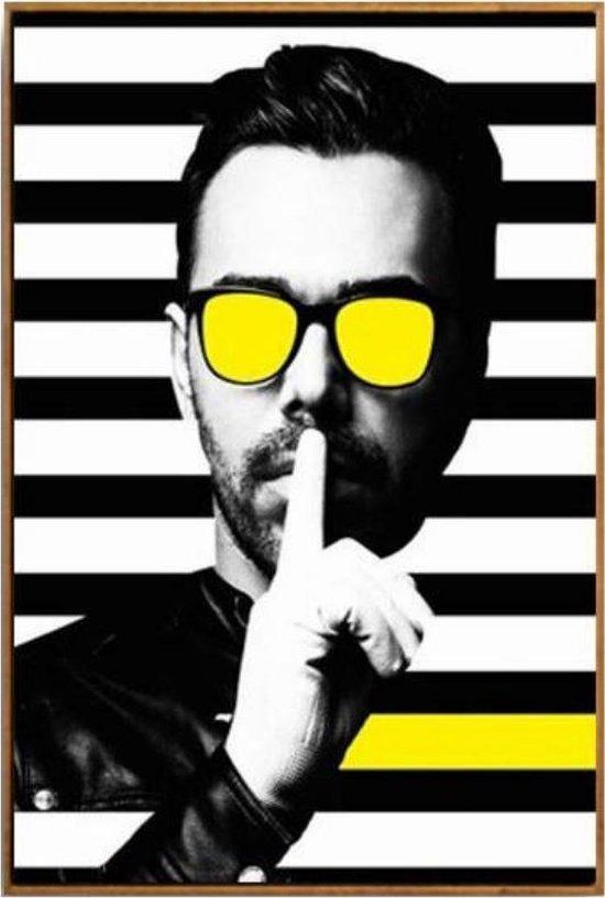 Wonderlijk bol.com   Canvas Schilderij * Minimalistische Moderne Man met HI-01