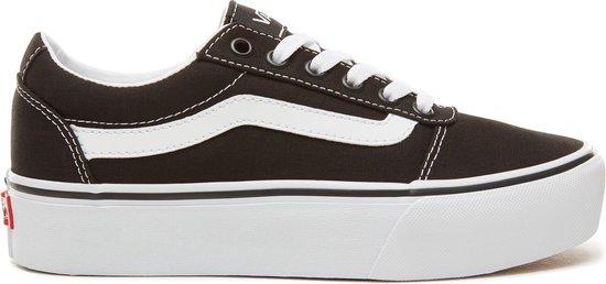 bol.com | Vans Ward Platform Canvas Dames Sneakers - Black ...