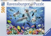 Ravensburger puzzel Dolfijnen in het koraalrif - Legpuzzel - 500 stukjes
