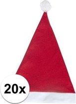 20x Rode voordelige kerstmuts voor volwassenen