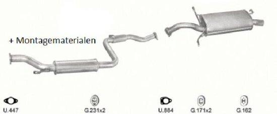 Complete uitlaat Volvo V40 / S40 1.9D Bj 1997-2001 (Set2110)
