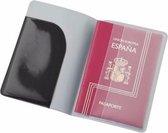 Paspoort houder zwart 13 cm - Reis documentenhouders paspoorthoezen