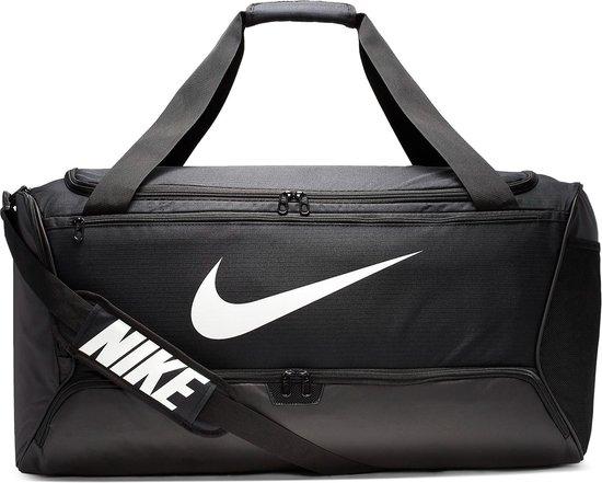 Nike  Brsla L Duff - 9.0 Unisex Sporttas - Black/Black/(White) - Maat OSFA