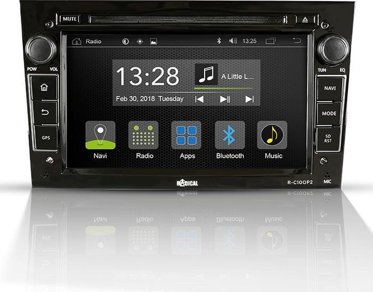 Radical R-C10OP2 Pasklare Android autoradio voor Opel Astra H, Corsa D, Zafira B, Antara.