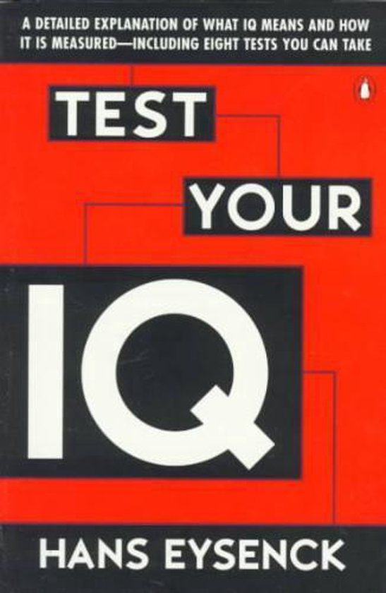 Boek cover Test Your Iq van Hans J Eysenck (Paperback)