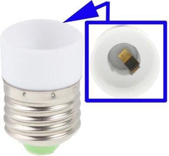 E14 naar E27 Lamp Lampen Adapter Converter (Wit)