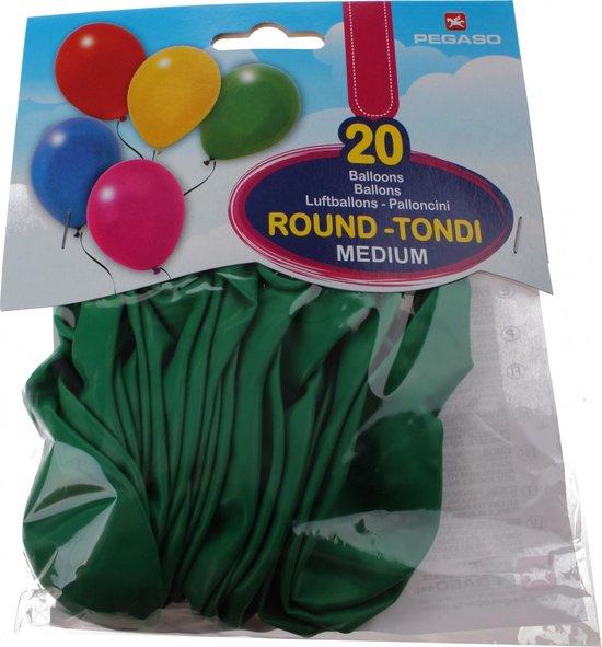 Pegaso Ballonnen 28 Cm Groen 20 Stuks