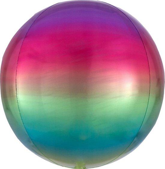 Ombr? Orbz Rainbow Foil Balloon G20 bulk