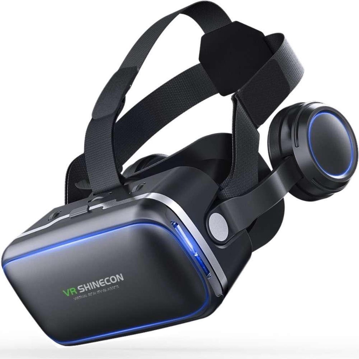 VR SHINECON Virtual Reality Bril met Earphons - 4 tot 6 inch smartphones - Black