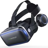 VR SHINECON Virtual Reality Bril met Earphons - 4 tot 6 inch smartphones - Black
