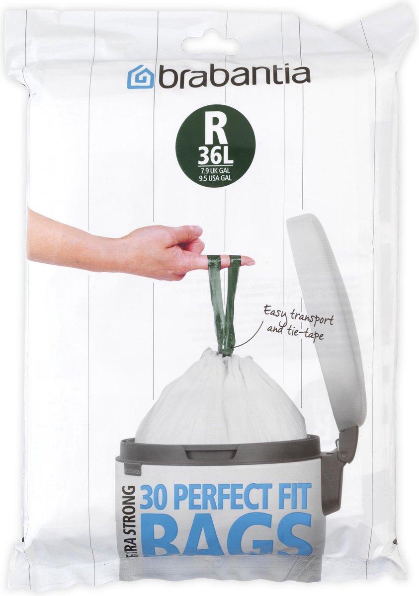 Brabantia PerfectFit Vuilniszakken - 36 l - Code R - 30 stuks