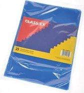 Class'ex L-map gekorreld blauw pak van 25 stuks