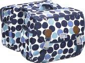New Looxs Joli Dubbele Fietstas - 34 liter - Dots blauw