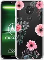 Moto G7 Power Hoesje Flowers