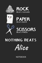 Nothing Beats Alice - Notebook
