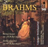 Brahms: String Sextet, String Quartet / Leipzig Quartet