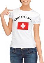 Zwitserland t-shirt wit dames Xl