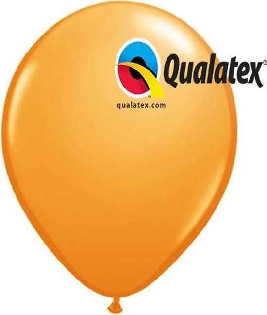 Ballonnen Metallic Oranje 15 cm 100 stuks