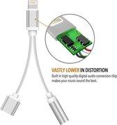 Lightning compatible 2 in 1 audio adapter splitter opladen & audio voor iPhone