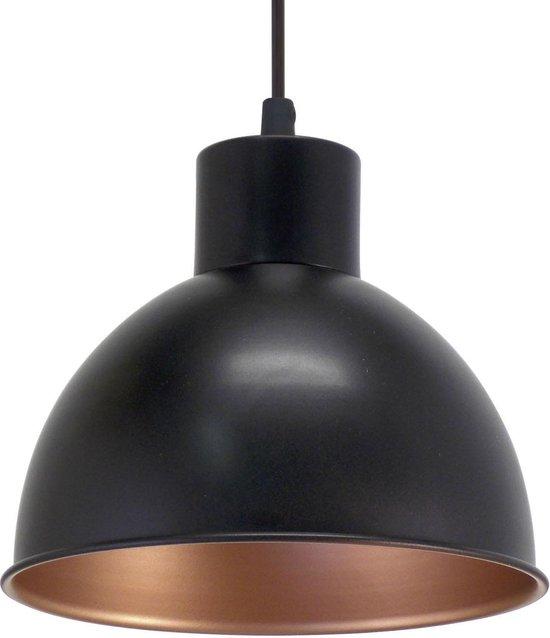 EGLO Vintage - Hanglamp - 1 Lichts - Ø210mm. - Zwart, Koper