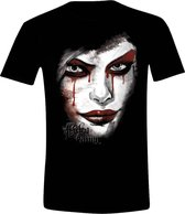 Batman: Arkam Knight - Harley Quinn Face Mannen T-Shirt - Zwart - L