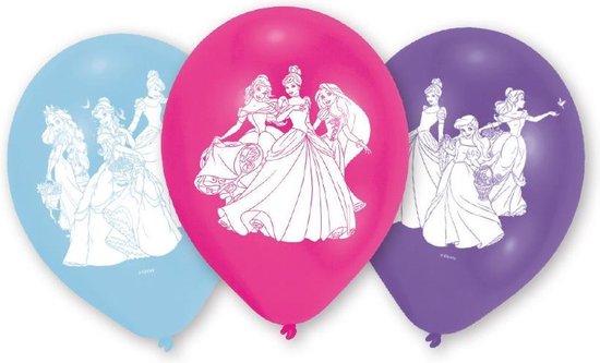 Amscan Ballonnen Princess 23 Cm Blauw/roze/paars 6 Stuks