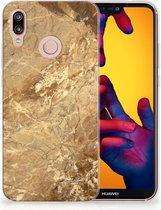 Huawei P20 Lite TPU Siliconen Hoesje Design Marmer