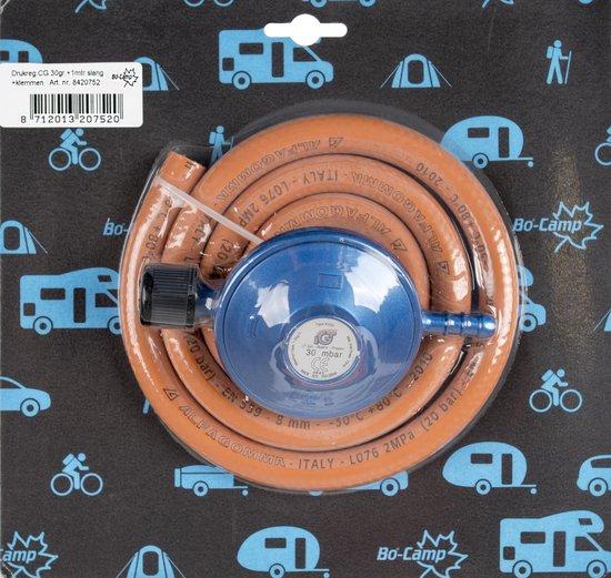 Bo-Camp Gasaansluitset - Voor Campingaz Compleet - 100 Cm - Oranje   Blauw