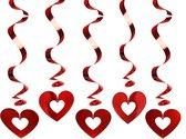 Swirl decoratie rood hartjes