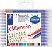 Calligraphy pen. duo punt - set 12 st