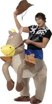 """""""Opblaasbaar paardenpak voor volwassenen - Verkleedkleding - One size"""""""