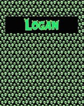 120 Page Handwriting Practice Book with Green Alien Cover Logan