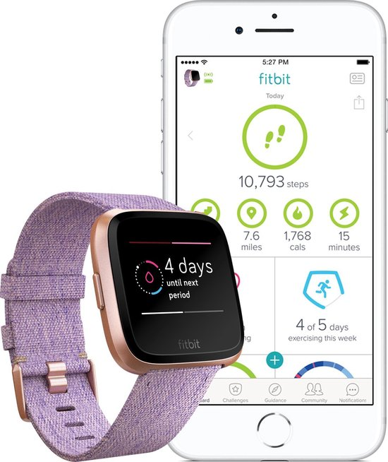 Fitbit Versa - Smartwatch - Special Edition - Lavendel