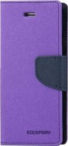 Let op type!! MERCURY GOOSPERY FANCY DIARY for iPhone 6 Plus & 6s Plus Cross Texture Horizontal Flip Leather Case with Card Slots & Wallet & Holder(Purple)