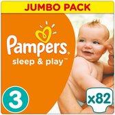 Pampers Sleep & Play Luiers - Maat 3 - 5-9 kg - 82stuks