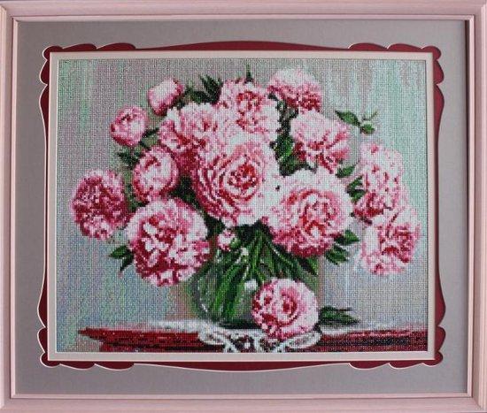 Diamond Painting Garden Peonies de4642 48 x 38 cm