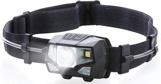 MacGyver 'Multicolor' Hoofdlamp | LED | Outdoorlamp| 3 kleuren licht 80 meter zicht | Waterbestendig