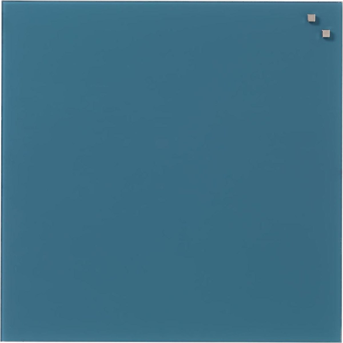 NAGA Glassboard 45x45cm Jeans Blauw