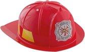 Rode brandweerhelm verkleed accessoire voor kinderen