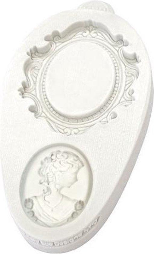 Katy Sue Mould Miniature Frames - Oval Cameo & Oval Frame 2
