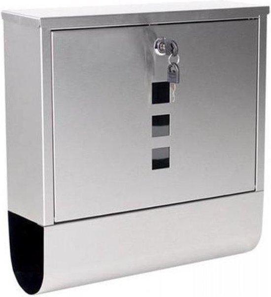 Basic brievenbus - Inclusief montagemateriaal en 2 sleutels - Afmeting 31 x 33 x 10,5 cm - RVS - Basic