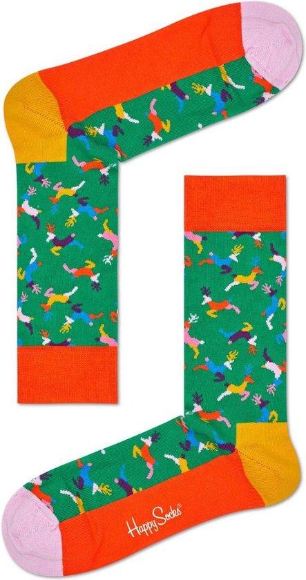 Happy Socks - Happy Holiday - kerst sokken - Reindeer - Unisex - Maat 41-46