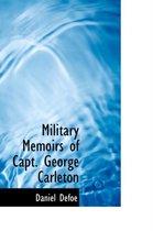Omslag Military Memoirs of Capt. George Carleton