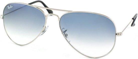 Ray-Ban RB3025 003/3F - Aviator (Gradient) - zonnebril - Zilver / Lichtblauw Gradiënt - 62mm